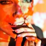 Woman color face art — Stock Photo #13491112