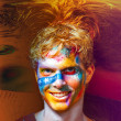 Color face art men — Stock Photo #17440225