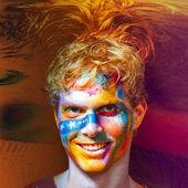 цвет лица искусства мужчин — Стоковое фото