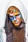 Hombres de arte cara color — Foto de Stock
