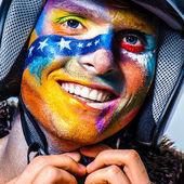 Color face art men — Stock Photo