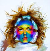 Mystical face art — Stock Photo