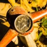 Rusty wheel of the motorcycle — Stock Photo #24192489