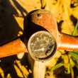 Rusty wheel of the motorcycle — Stock Photo