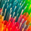 Stock Photo: Many multi-color tubules