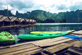 Wharf with boats — Stockfoto
