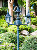 Gray lantern — Stock Photo