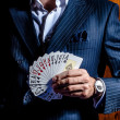 Man in a suit . Player — Stock Photo #30804749