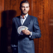 Man in a suit . Player — Stock Photo #30805323