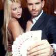 Couple in casino — Stock Photo