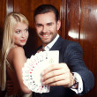 Couple in casino — Stock Photo #31324415