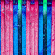 Rhythmic series wooden colorful lines — Stock Photo