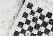 Empty old wooden chess board — Stock Photo