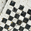 Antique chess board — Stock Photo