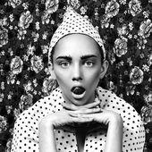 Fashion women face whith professional makeup — Stock Photo