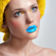 Make-up cosmetics Closeup portrait of beautiful woman — ストック写真