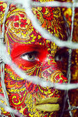Circus face art woman close up portrait — Stock Photo