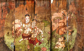 Traditional Thai style art stories — Stok fotoğraf