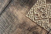Wood carving texture background — Stock Photo