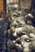 Statues of elephants composition. — Stockfoto