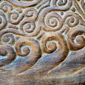 Handmade wood carvings — Stock Photo