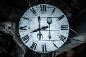 Numbered dial plate with fork — Foto Stock