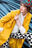 Yellow coat — Stock Photo