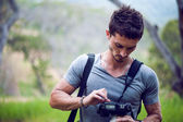 Wild life professional photographer — Stock Photo