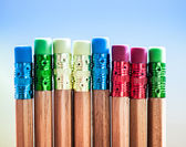 Many different colored pencils — Stockfoto