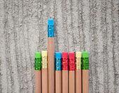 许多不同的彩色的铅笔 — 图库照片