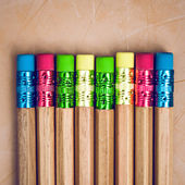 Many different colored pencils — Stock Photo
