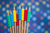 Many different colored pencils — Foto Stock
