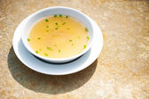 Chicken broth — Stock Photo