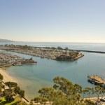 Dana point Harbor and Jetty — Stock Photo