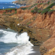 Rugged Cliffs in San Diego — Stock Photo
