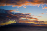 A view of Molokai Hawaii Sunset — Stock Photo