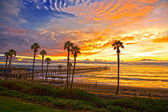 San Clemente Pier at Sunset after a storm. — Stock Photo