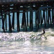 Surfer and Pier — Stock Photo