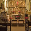 Stock Photo: MISSION SAN JUAN CAPISTRANO CHAPEL ALTER