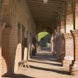 Stock Photo: MISSION SAN JUAN CAPISTRANO WITH LIGHT AND SHADOWS