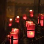 velas de misión san juan capistrano en la capilla — Foto de Stock