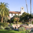 Stock Photo: MISSION SAN JUAN CAPISTRANO FOUNTAIN AND BELL