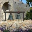 Stock Photo: Two Bells hanging at Mission SJuCapistrano