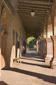 MISSION SAN JUAN CAPISTRANO WITH LIGHT AND SHADOWS — Stock Photo