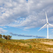 Windmill landscape - renewable energy source — Stock Photo