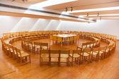 木制会议室 — 图库照片