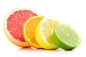 Citrus fresh fruit isolated on a white background — Stok fotoğraf