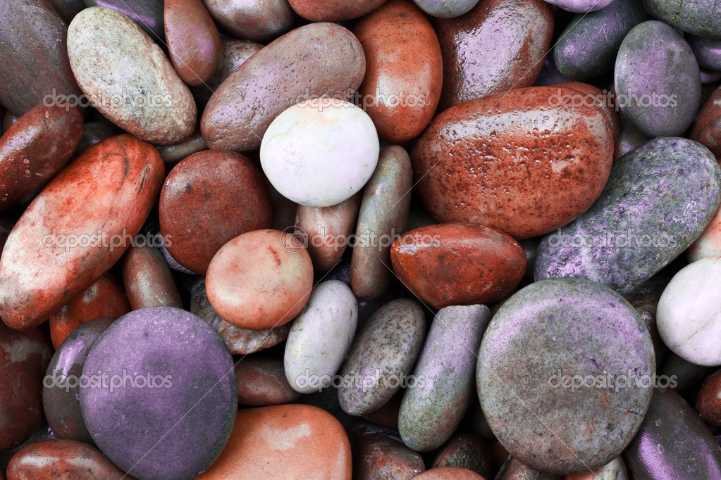 Abstract background with round peeble stones — Stock Photo #13649726