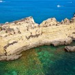Cliffs at Algarve beach, south of Portugal — Stock Photo