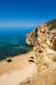 High view of Marinha beach at Lagoa, Algarve, Portugal — Stock Photo